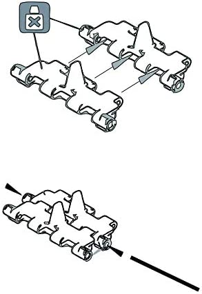 Warp United 1//35 Workable Metal Track 220 Link Set with Pins for German Tiger I Panzer VI Tank Early Model Kit