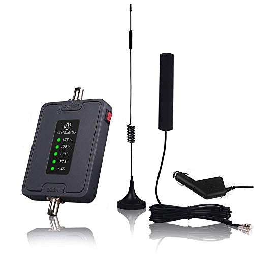 Cell Phone Signal Booster for Car, Truck and RV - Multiple Band Cellular Repeater Kit for All Carriers 2G 3G 4G LTE Boost Voice & Data Signal for Verizon AT&T T-Mobile (Band 2/4/5/12/13/17) from A ANNTLENT