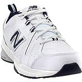 New Balance Men's 608v5 Casual Comfort Cross Trainer, White/Navy, 15 4E US