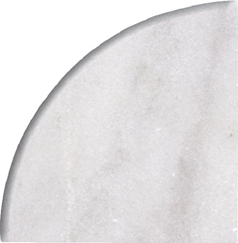 Bianco White Imperial Turkish Polished Marble Accessories 1 Piece (9x9 CORNER SELF) - Ambra Tile