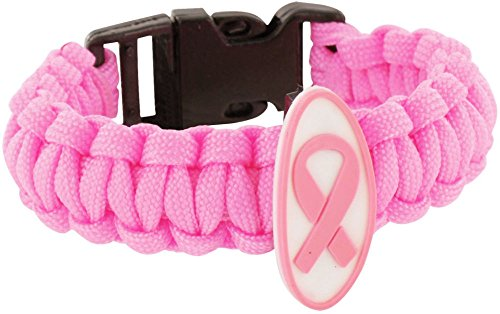 Breast Cancer Awareness Parachute Bracelet Pink Ribbon Symbol (Cooking Mama Bundle compare prices)