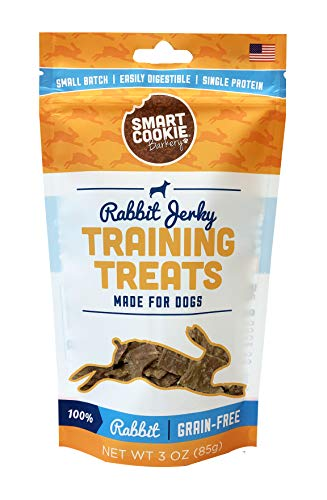 Smart Cookie Rabbit Jerky Training Treats - USA Rabbit Dog Treats, 3oz
