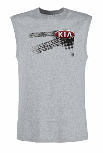 KIA - Auto Logo car Fun Top Tank Shirt -2039 -Grau