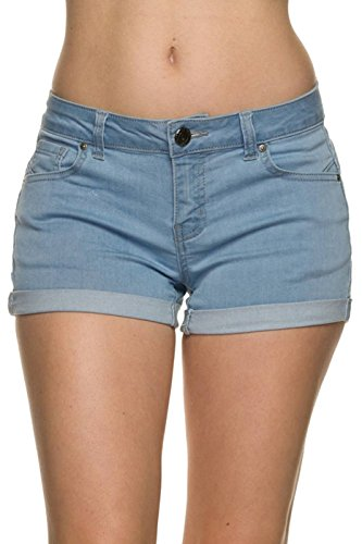 ClothingAve. Women's Basic 5 Pocket Fitted Denim Shorts Collection for cheap