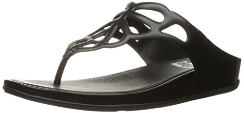 Image of FitFlop Women's Bumble Leather Toe-Post Flip Flop