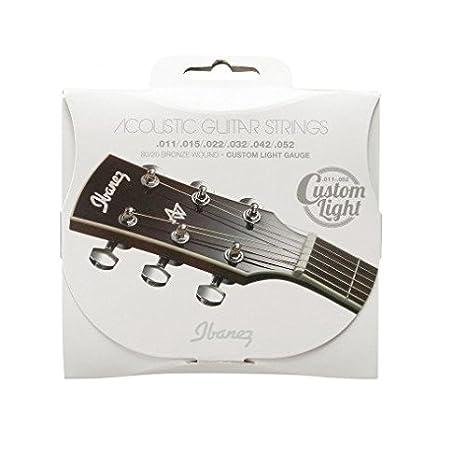 Ibanez iacs62 C bronce herida cuerdas de guitarra acústica: Amazon ...