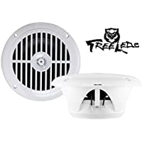 Marine White Speakers for Boats 6.5 Inch, 120 Watts (2 Pieces)