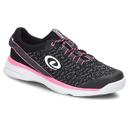 Dexter Womens Jenna 2 Bowling Shoes- Black/Grey/Pink, 7 ()