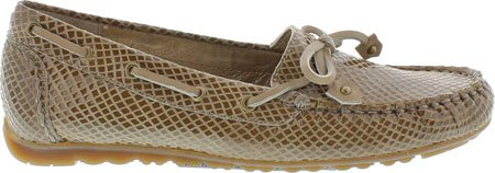 Rose Petals By Walking Cradles Mujeres Everett Moccasin Taupe Snake Leather