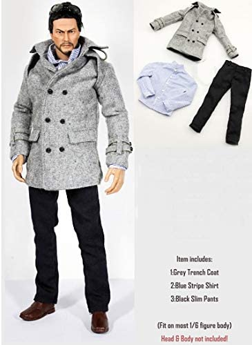 1/6 Male Coat Pants Shirt Clothes Suit for 12 Inch Action Figures Models Doll.