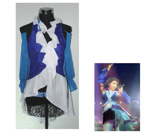 FANTASYCART Final Fantasy Yuna Lenne Songstress Cosplay Halloween Costume Size S