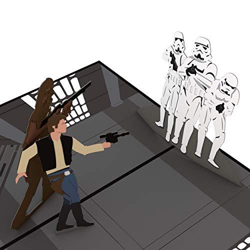 (Star Wars Death Star Showdown Pop Up Card, 3D Card, Birthday Card, Greeting Card)