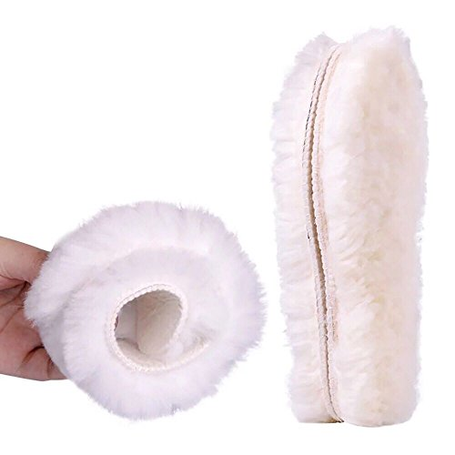 Ultra Sheepskin Boots - Wool Insoles Genuine Sheepskin Insoles Men's & Women's Thick Wool Fur Fleece (7(US standard))