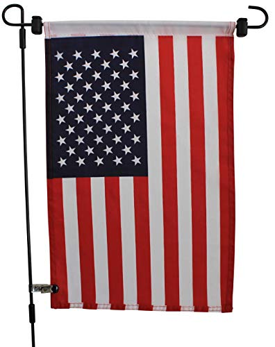 Garden Flag Stand - American Flag and Pole Included - Complete Set Includes Seasonal Yard Flag Holder with 36