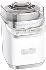 One ice cream maker that has all frozen delights covered - ice cream, gelato, frozen yogurt, and sorbet. Making two quarts of any type in any flavor couldn't be easier. One-button operation and auto shutoff keep things sweet and simple. Innov...