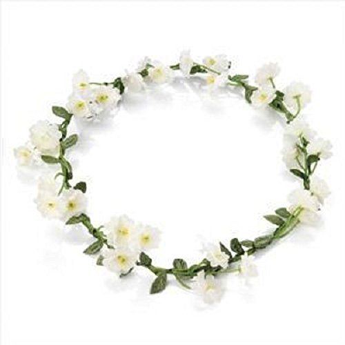 White Floral Daisy Headband Crown with Adjustable Ribbon for Summer Wedding instagram photo