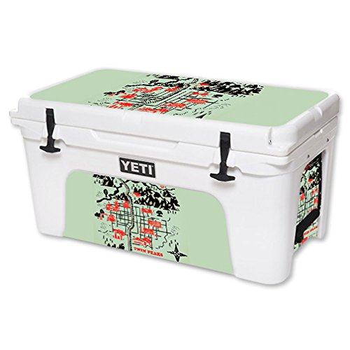 MightySkins Skin For YETI 65 qt Cooler - Twin Peaks Map | Protective, Durable, and Unique Vinyl Decal wrap cover | Easy To Apply, Remove, and Change Styles | Made in the USA by MightySkins