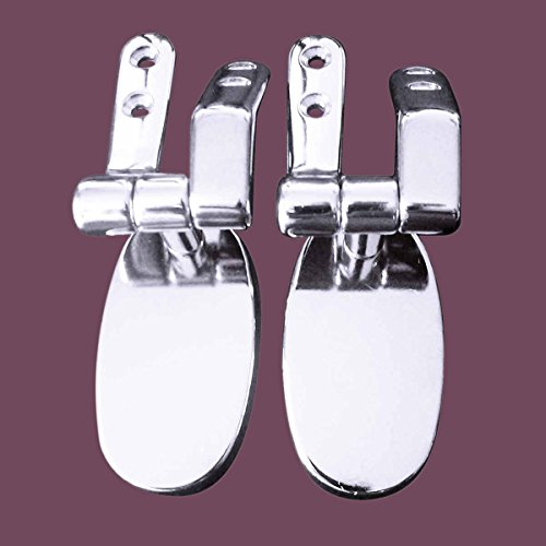 "durable modeling Toilet Seat Chrome Toilet Seat Hinge 5.5"" Hole Space 