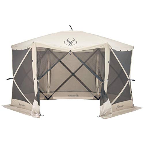 Gazelle Tents 21500 G6 Pop-Up Portable 6-Sided Hub Gazebo/Screen Tent, Easy Instant Set Up in 60 Seconds (Gazebo Screen Privacy)