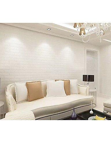Sue Contemporary White Brick Wallpaper 053 M 10 M Wall Cladding