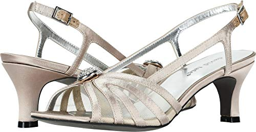David Tate Womens Slide - David Tate Women's Cheer Champagne Satin 6.5 M US