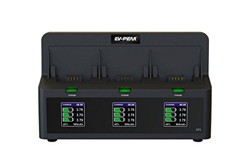 (EV-PEAK 3 Ports 35W/CH 3.5A/CH Parrot Bebop 2 Drone Battery Charger)