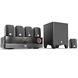 Kit Home Theater JBL Cinema J5100 Sistema 5.1 E Receiver JBL 375W 110V