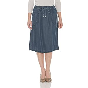 Esteez Women's A-Line Skirt – Tencel Denim – Knee Length – Savannah
