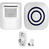 Motion Sensor Doorbell Sunsbell Wireless Home Security Driveway Alarm 1 Plug-in Receiver and 1 PIR Motion Sensor Detector Alert System