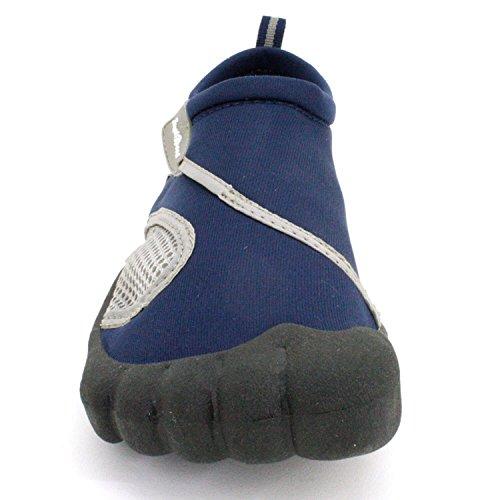 Just Speed Herren Aqua Schuhe Aqua Socken-Max Slip Resistances & Feet Schutz, um die Leistung zu verbessern Navy-grau