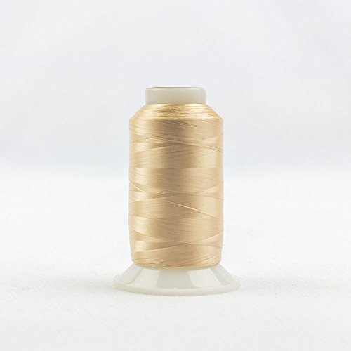 WonderFil InvisaFil Specialty Thread, 2-Ply Cottonized Soft Polyester, Silk-Like Thread for Fine Sewing, 100wt - Nude, 2500m