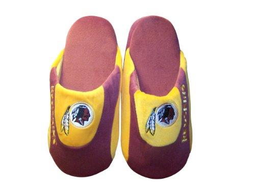 Happy Feet & Comfy Feet - Oficialmente Con Licencia Para Hombre Y Mujer Nfl Low Pro Slippers Washington Redskins Low Pro