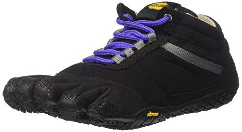 Vibram FiveFingers Women's Trek Ascent Insulated Multisport Outdoor Shoes, Black Multicolored (Black/Purple)