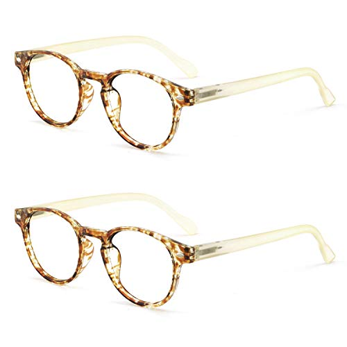 OCCI CHIARI Lightweight Designer Acetate frame Stylish Reading Glasses For Women (5006-Yellow2, 2.0)