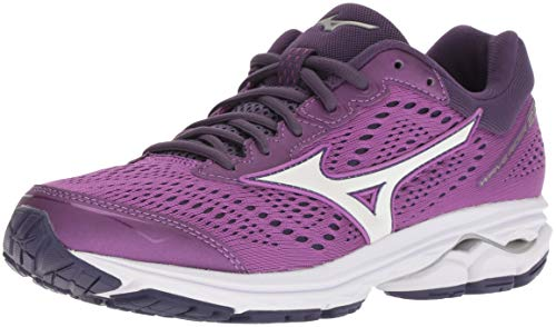 Mizuno Women's Wave Rider 22 Running Shoe, Bright Violet/Purple Plumeria, 8 B US