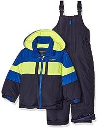 Big Boys' 2-Piece Colorblock Snow Bib and Jacket Snowsuit