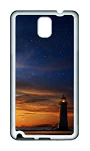 Samsung Note 3 Case,VUTTOO Stylish Dusk Lighthouse Soft Case For Samsung Galaxy Note 3 / N9000 / Note3 - TPU White