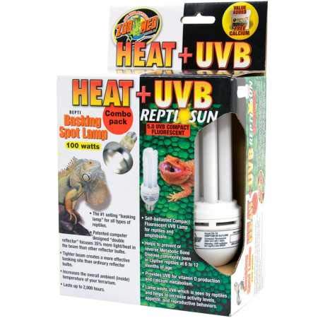 Zoo Med Heat UVB Reptisun Basking Spot Lamp (100 watts) by Zoo Med