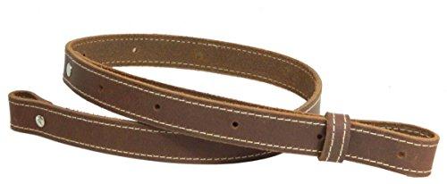 Leather Rifle Sling genuine Vintage brown crazy horse gun strap stitched 1
