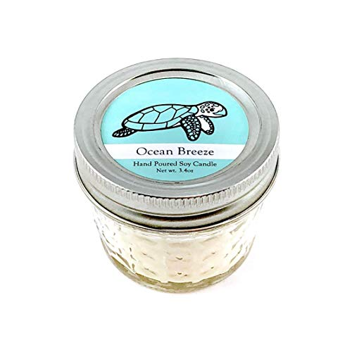 Sea Turtle Conservation Candle - Ocean Breeze Scent | Wildlife Conservation All-Natural Vegan Soy Candle ()