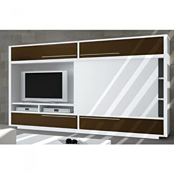 Meuble Bibliotheque Tv Domino Avec Porte Coulissante Une Exclu
