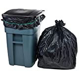 Plasticplace 65 Gallon Trash Bags │ 1.5 Mil │ Black Heavy Duty Garbage Can Liners │ 50