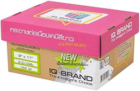 IQ Brand Continuous Computer Paperfor Dot Matrix-Drucker, 9 x 11, weiß, keine Zeilen 2-Part