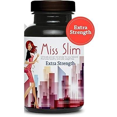 Miss Slim Extra Strength Weight Loss Pills for Women – Clinically Proven Fast Fat Binder – Fat Burner Diet Pill by Miss Slim 30 Veggie Cap