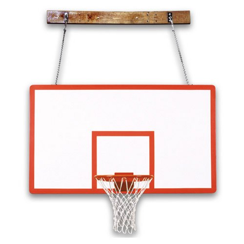 First Team FoldaMount 46 Performance Side-Folding Wall-Mounted Basketball Hoop with 72 Inch Fibergalss Backboard