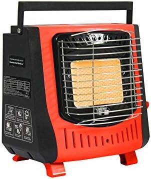Qxpect Outdoor Estufa Portátil Calentador de Gas Camping Tienda de Pesca Estufa Calefacción Coche, Calentador de campaña Calentador de Gas A Gas, ...