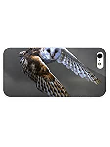Hu Xiao 3d Full Wrap case cover for eWq7CFjDy5g iPhone 5/5s Animal Flying Owl69