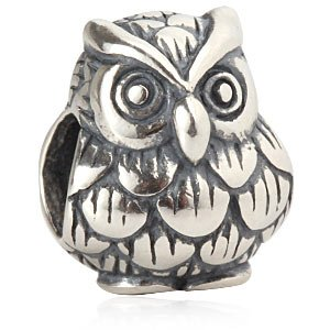 Everbling Animal Paradise Owl Pig Elephant Fox Cow Snake Hedgehog Bear 925 Sterling Silver Bead Fits European Charm Bracelet (Wisdom Owl Graduation) ()