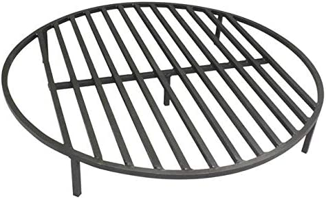 TITAN GREAT OUTDOORS Round Fire Pit Grate 30'' Heavy Duty Grill Cooking Campfire Camp Ring 1/2″ Steel