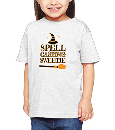 HAASE UNLIMITED Spell Casting Sweetie - Witch Witchcraft Infant/Toddler Cotton Jersey T-Shirt (White, 3T)